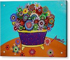 Pristine Flowers Acrylic Print