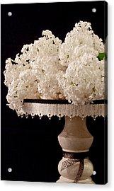 Pristine Lilacs On A Music Pedestal Acrylic Print