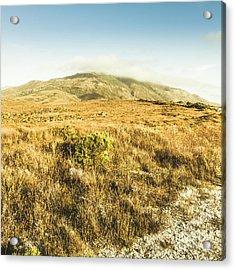 Pristine Mountain Plains Acrylic Print