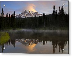 Pristine Reflections Acrylic Print by Mike  Dawson
