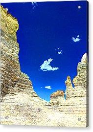 Pristine Sky Meets Historic Rocks Acrylic Print