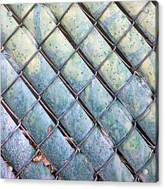 Privacy Chain Acrylic Print by Stan  Magnan