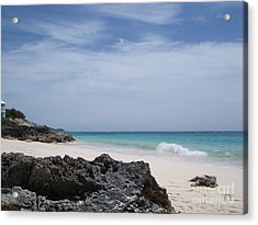 Private Bermuda Beach Acrylic Print by PJ  Cloud