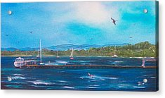 Private Dock Acrylic Print by Tony Rodriguez