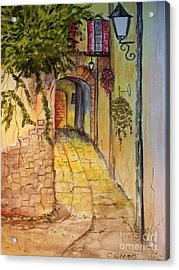 Acrylic Print featuring the painting Private Entrance by Carol Grimes