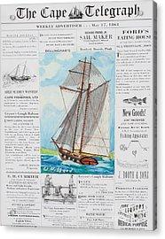 Privateer Off Charleston, Sc Acrylic Print
