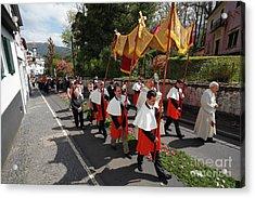 Procession In Azores Islands Acrylic Print by Gaspar Avila