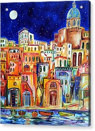 Procida Under The Moon Acrylic Print