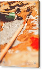 Progress Of Oil Painting Acrylic Print by Jorgo Photography - Wall Art Gallery