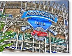 Progressive Field Acrylic Print by David Bearden