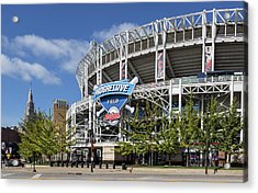 Acrylic Print featuring the photograph Progressive Field In Cleveland Ohio by Dale Kincaid