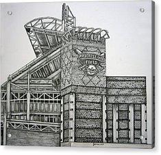 Progressive Field Acrylic Print by Juliana Dube