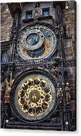 Progue Astronomical Clock Acrylic Print