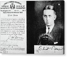 Prohibition Agent Id Card Of Eliot Ness Acrylic Print