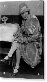 Prohibition, Miss Rhea Seated Acrylic Print