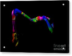 Projected Body Paint 2094947a Acrylic Print