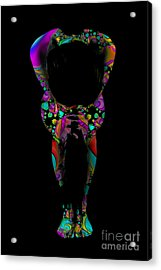 Projected Body Paint 2094995a Acrylic Print by Rolf Bertram