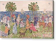 Promenade Acrylic Print by Maurice Brazil Prendergast