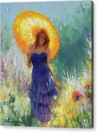 Acrylic Print featuring the painting Promenade by Steve Henderson