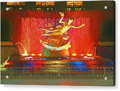 Prometheus Statue Rockefeller Center Acrylic Print by Dan Sproul