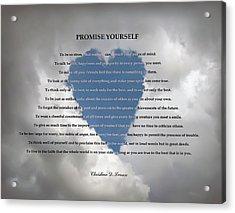 Promise Yourself Acrylic Print
