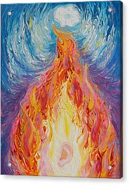 Prophetic Message Sketch 16 Listen To The Benevolent Flame Look For The Promise  Acrylic Print