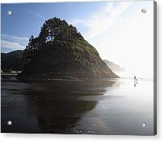 Proposal Rogue Wave Rock - Oregon Coast Acrylic Print
