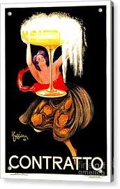 Prosecco Contratto Leonetto Cappiello Acrylic Print by Heidi De Leeuw