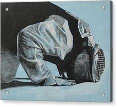Prostration In Palestine Acrylic Print by Salwa  Najm