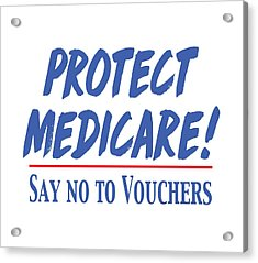 Acrylic Print featuring the drawing Protect Medicare by Heidi Hermes