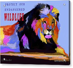 Protect Our Endangered Wildlife Acrylic Print