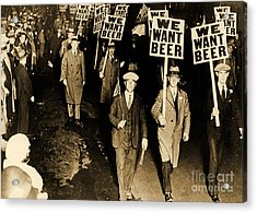 Protest Against Prohibition, New Jersey, 1931 Acrylic Print by American School