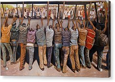 Protest Acrylic Print by Curtis James