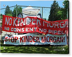 Acrylic Print featuring the photograph Protest Signs by Bill Thomson