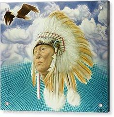 Proud As An Eagle Acrylic Print