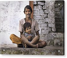 Proud Father Acrylic Print by John Hansen