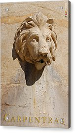 Provence Fountain 3 Carpentras Acrylic Print by Philippe Taka