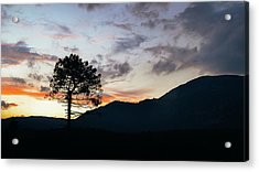 Provence, France Sunset Acrylic Print