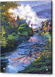 Provence River Acrylic Print by David Lloyd Glover