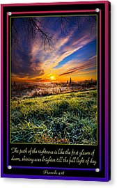 Proverbs Acrylic Print by Phil Koch
