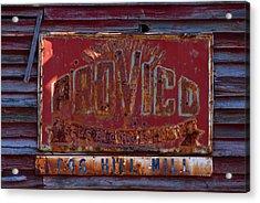 Provico Acrylic Print by Pat Turner