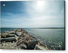 Provincetown Breakwater Acrylic Print