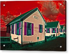 Provincetown Cottages Acrylic Print