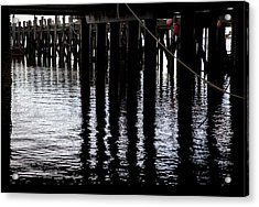 Acrylic Print featuring the photograph Provincetown Wharf Reflections by Charles Harden