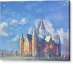 Provo City Center Temple Acrylic Print by Jeff Brimley