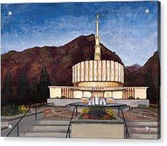 Provo Temple Acrylic Print