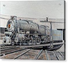 Prr M1 On Turntable Altoona Pa Acrylic Print by Paul Cubeta