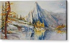 Prusik Peak Fall Morning Acrylic Print by Sukey Watson