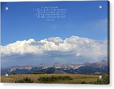 Psalm 121 Acrylic Print