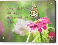 Psalm 130 Acrylic Print